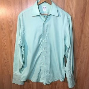Brooks Brothers Teal Button Down Dress shirt